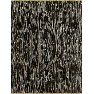 Peart Hand-Knotted Ebony Area Rug Rug Size: 6 x 9