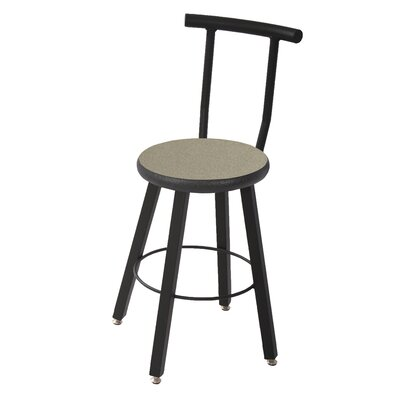 Round Laminate Armor Edge Seat Leg Stool Backrest Product Image 13934