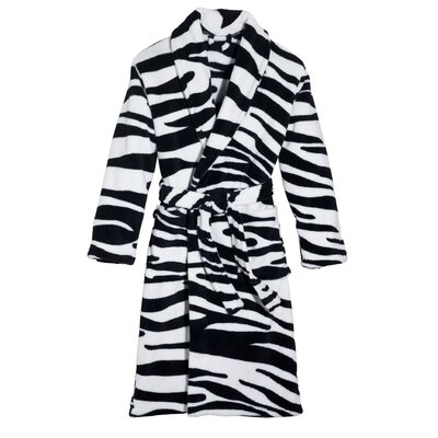 Wild Zebra Robe Size: Medium/Large