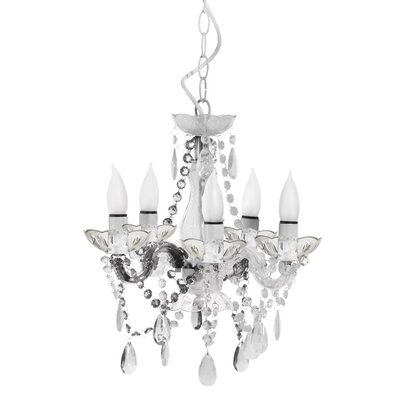 5-Light Crystal Chandelier Color: Clear