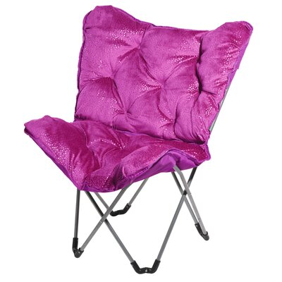 Sparkle Butterfly Lounge Chair Finish: Fuchsia