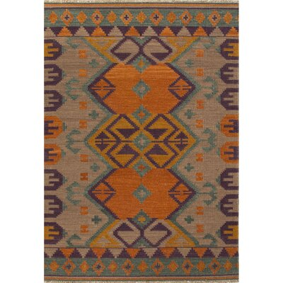 Hayden Hand-Woven Orange/Purple Area Rug
