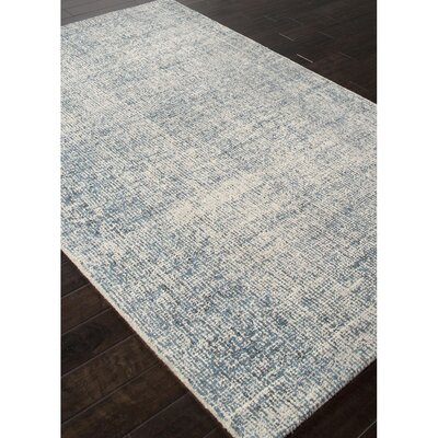California Bay Hand Tufted Wool Ivory/Blue Area Rug