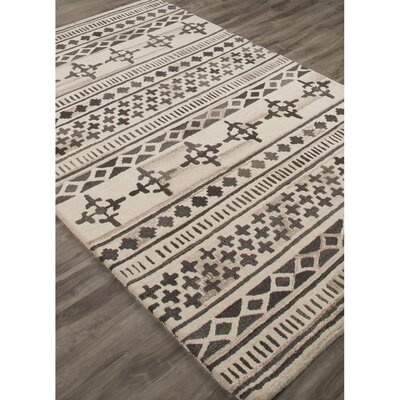 Adan Hand-Tufted Brown/Ivory Area Rug