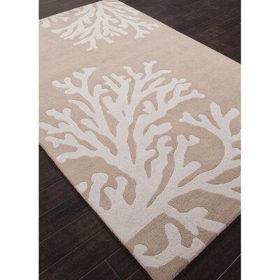 Avery Hand-Tufted Taupe/Ivory Area Rug