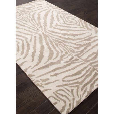 En Casa Hand-Tufted Taupe/Ivory Area Rug