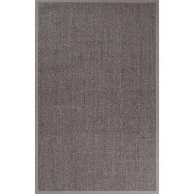 Remerton Hand-Woven Gray Area Rug Rug Size: 9 x 12