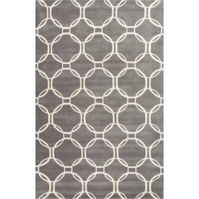 Lounge Hand-Tufted Gray/Ivory Area Rug Rug Size: 9 x 12