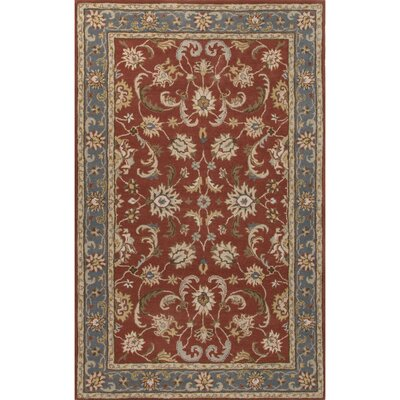 Poeme Hand-Tufted Red/Blue Area Rug Rug Size: 8' x 10'