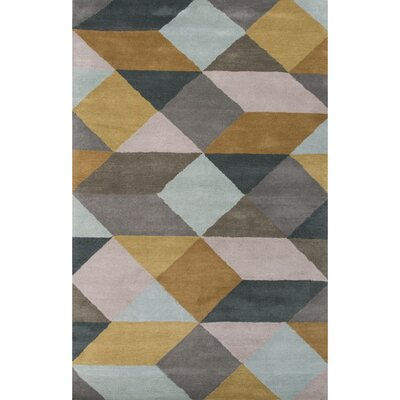 Reid Hand-Tufted Yellow/Gray Area Rug
