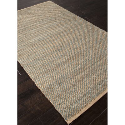 Elmwood Hand-Woven Taupe/Blue Area Rug