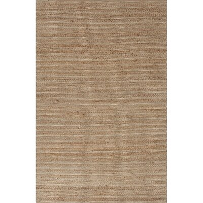 Elmwood Hand-Woven Taupe/Ivory Area Rug Rug Size: 9 x 12