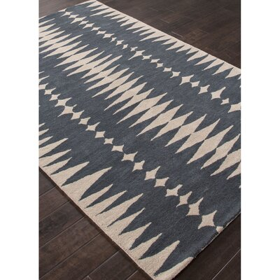 En Casa Hand-Tufted Blue/Ivory Area Rug
