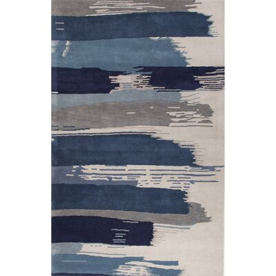 Didymus Hand-Tufted Blue/Ivory Area Rug