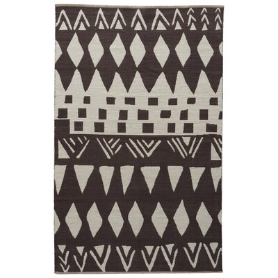 Jaimey Slate Black/Bone White Area Rug Rug Size: Rectangle 8 x 11