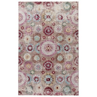 Javon Macaroon/Aqua Haze Area Rug Rug Size: Rectangle 78 x 10
