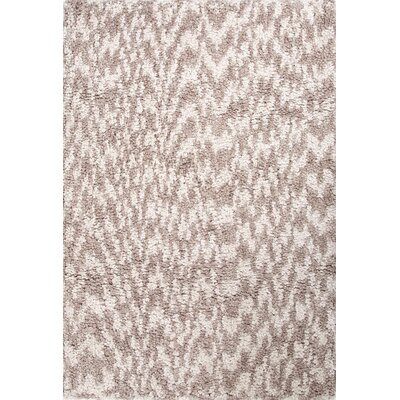 Alderamin Handmade Shag Taupe/Ivory Area Rug Rug Size: 4 x 6