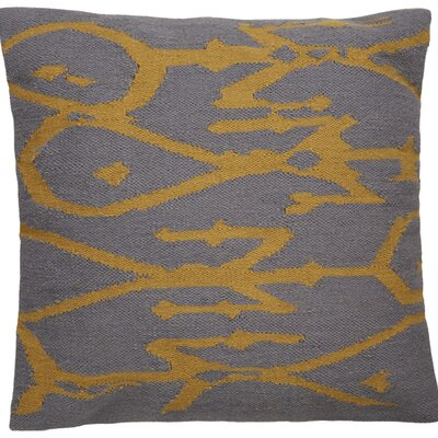 Purti Tribal Pattern Throw Pillow Color: Grey / Yellow