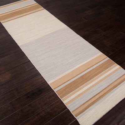Summerwood Kingston Fog/Light Gold Rug Rug Size: Runner 26 x 8