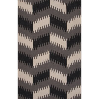 Eilerman Flat Weave Wool Charcoal/Gray Area Rug Rug Size: 5 x 8