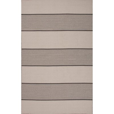 MacAdam Wool Flat Weave Oyster Gray/Ivory Area Rug Rug Size: 4 x 6
