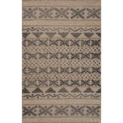 Stitched Wool Hand Tufted Gray Area Rug
