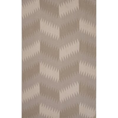 Eilerman Flat Weave Wool Tan Area Rug Rug Size: 5 x 8