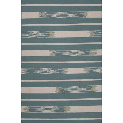 Camarillo Wool Flat Weave Blue/Ivory Area Rug Rug Size: 5 x 8