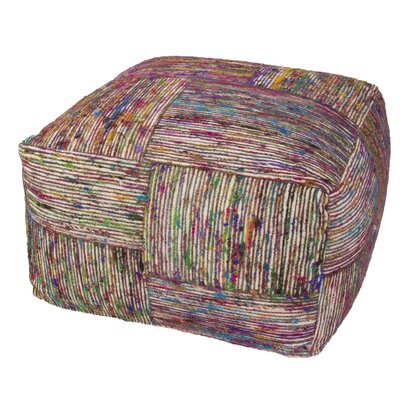 Romeo Textural Recycled Pouf Ottoman