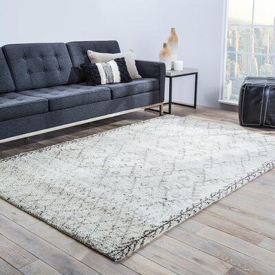 Esben Hand Knotted Gray Area Rug Rug Size: Rectangle 8 x 10