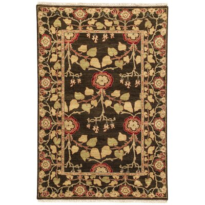 Farnhill Tree of Life Deep Charcoal Contemporary Rug Rug Size: 9 x 12