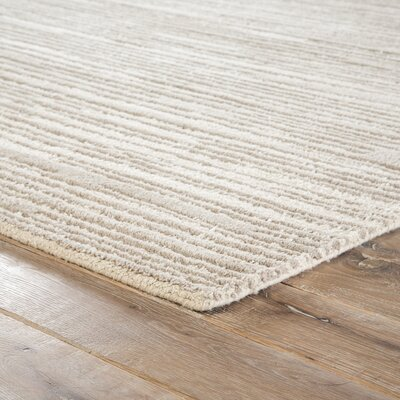 Kathryn Hand-Tufted Taupe Area Rug Rug Size: Rectangle 5 x 8