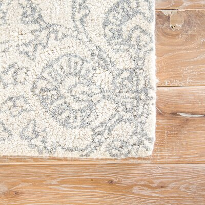 Emersyn Hand-Tufted Ivory/Gray Area Rug Rug Size: Rectangle 5 x 8