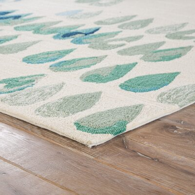 Heitz Ivory/Blue/Green Indoor/Outdoor Area Rug Rug Size: Rectangle 2 x 3