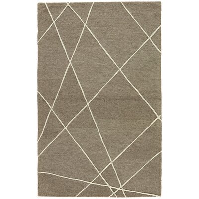 Hektor Hand-Tufted Brown/Beige Area Rug Size: 9 x 12