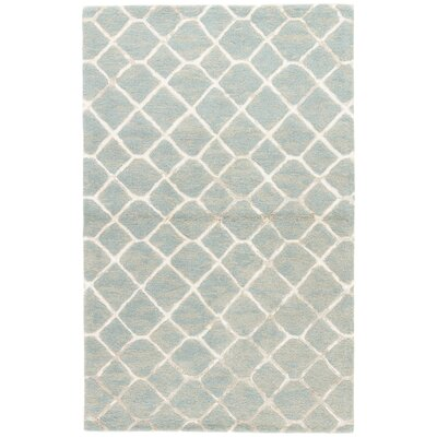 Heldt Hand-Tufted Blue/Cream/Tan Area Rug Rug Size: 5 x 8