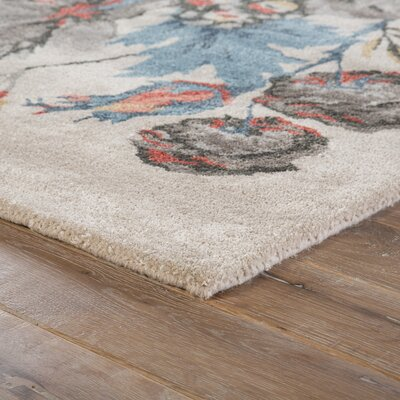 Erlich Hand-Tufted Red/Blue Are Rug Rug Size: 5 x 8