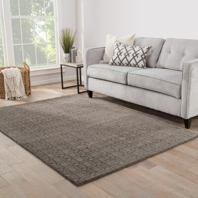 Birch Hill Hand-Tufted Brown/Gray Area Rug Rug Size: 2 x 3
