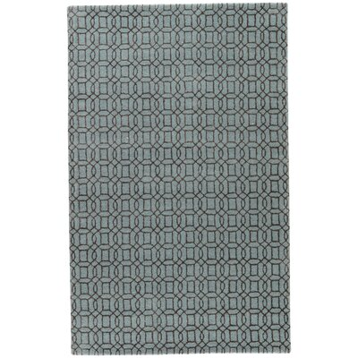 Birch Hill Hand-Tufted Blue/Brown Area Rug Rug Size: Rectangle 5 x 8