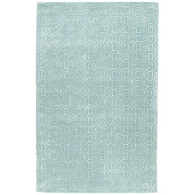 Birch Hill Hand-Tufted Blue/Tan Area Rug Rug Size: Rectangle 96 x 136