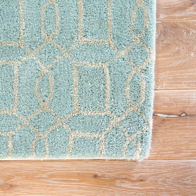 Birch Hill Hand-Tufted Blue/Tan Area Rug Rug Size: 8 x 11