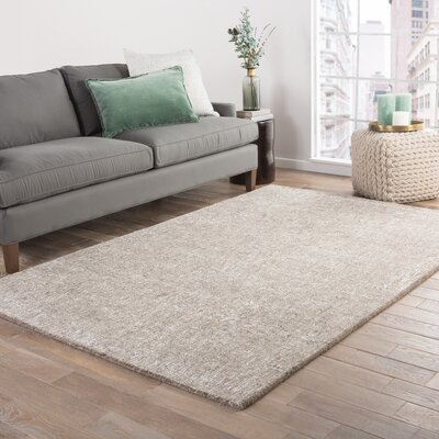 Bernards Hand-Tufted Taupe Area Rug Rug Size: Rectangle 9 x 12