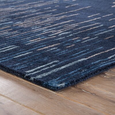 Weldon Hand-Tufted Blue/Taupe Area Rug Rug Size: Rectangle 2 x 3