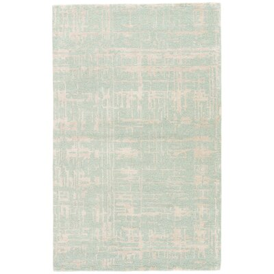 Rachel Hand-Tufted Aqua/Taupe Area Rug Rug Size: Rectangle 5 x 8