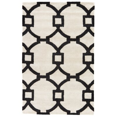 Bohara Hand-Tufted Cream/Black Area Rug Rug Size: 5 x 8