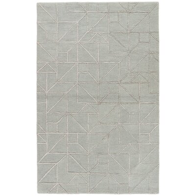 Brundidge Hand-Tufted Gray/Silver Area Rug Rug Size: 5 x 8