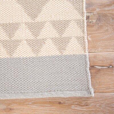 Helgeson Tan/Blue Indoor/Outdoor Area Rug Rug Size: 5 x 8