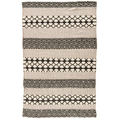 Flores Ash/Jet Black Indoor/Outdoor Area Rug Rug Size: 2 x 3