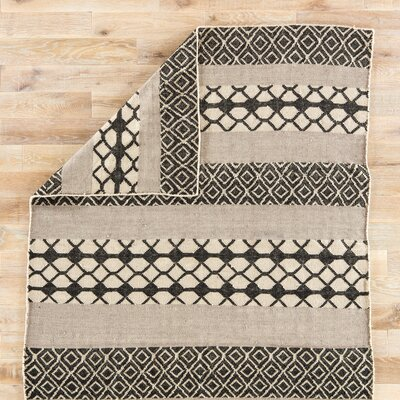 Flores Black/Gray Indoor/Outdoor Area Rug Rug Size: 5 x 8
