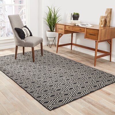 Heise Black/Beige Indoor/Outdoor Area Rug Rug Size: Rectangle 2 x 3